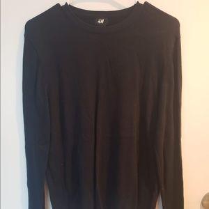 H&m navy crewneck sweater